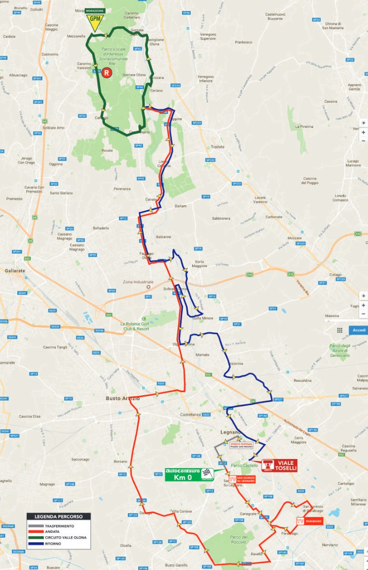 Streckenverlauf Coppa Bernocchi - GP BPM 2017