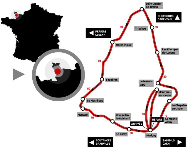 Streckenverlauf Duo Normand 2017