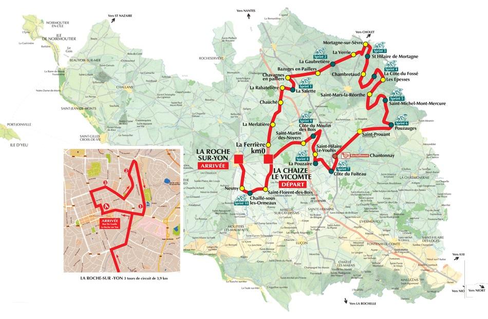 Streckenverlauf Tour de Vendée 2017