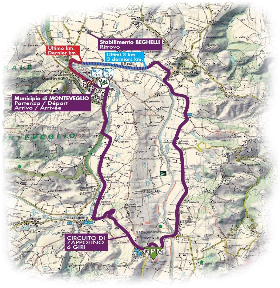 Streckenverlauf Gran Premio Beghelli Internazionale Donne Elite 2017