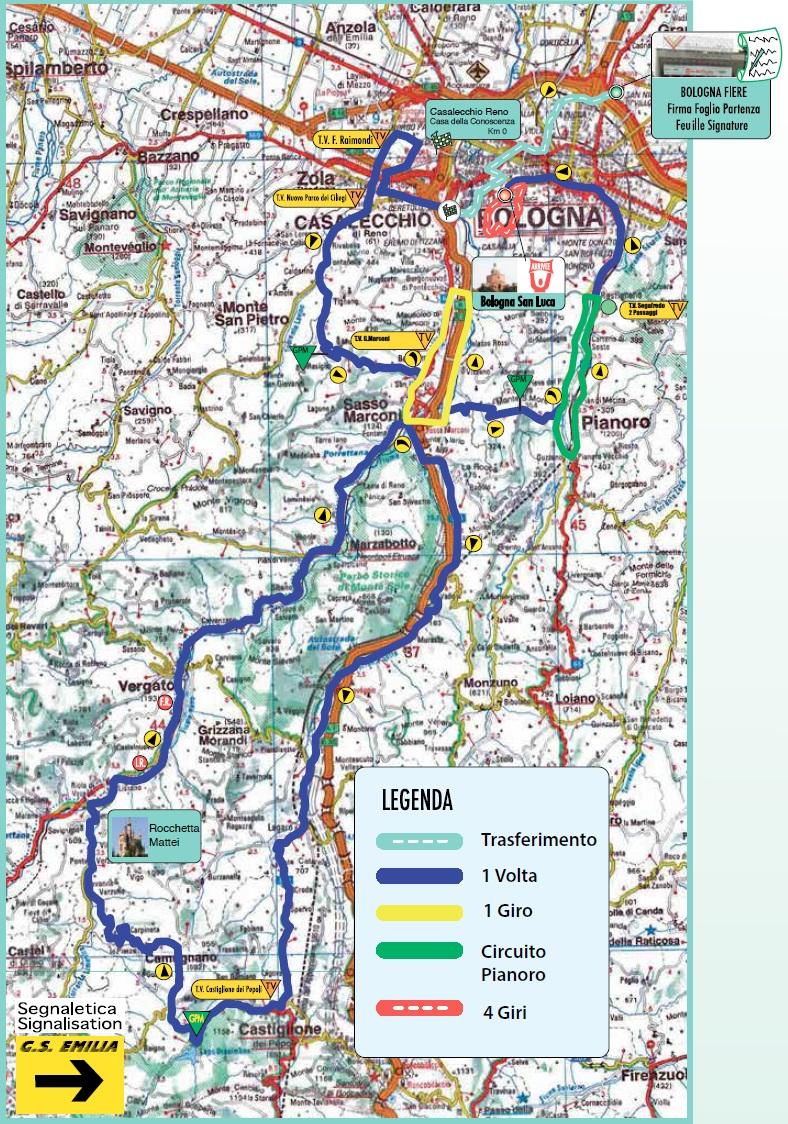 Streckenverlauf Giro dell'Emilia 2017