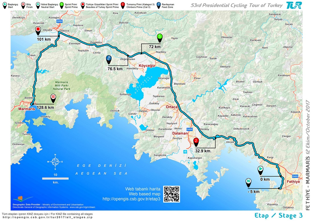 Streckenverlauf Presidential Cycling Tour of Turkey 2017 - Etappe 3
