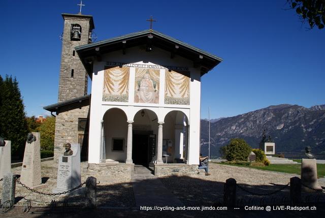 die Madonna del Ghisallo - ein legendärer Anstieg beim Rennen Il Lombardia