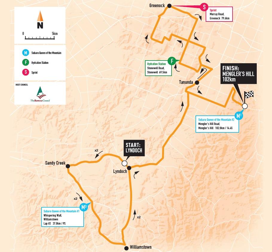 Streckenverlauf Santos Women's Tour 2018 - Etappe 2