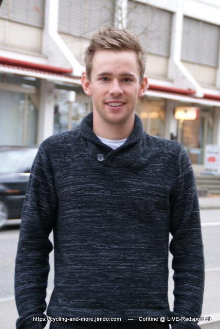 Fabian Lienhard beim Interview mit LiVE-Radsport.ch im November 2017