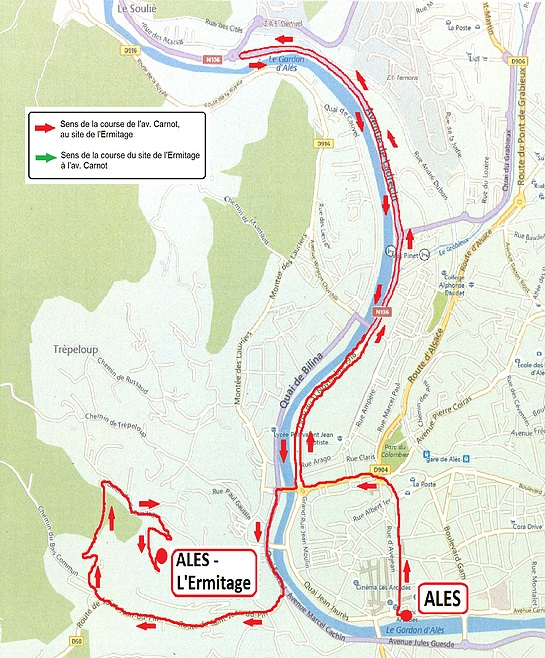 Streckenverlauf Etoile de Bessèges 2018 - Etappe 5