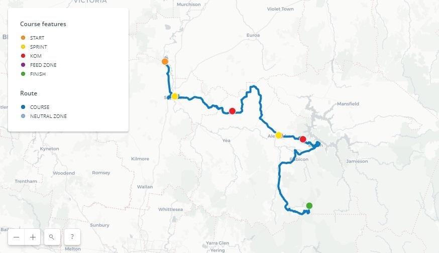 Streckenverlauf Herald Sun Tour 2018 - Etappe 3