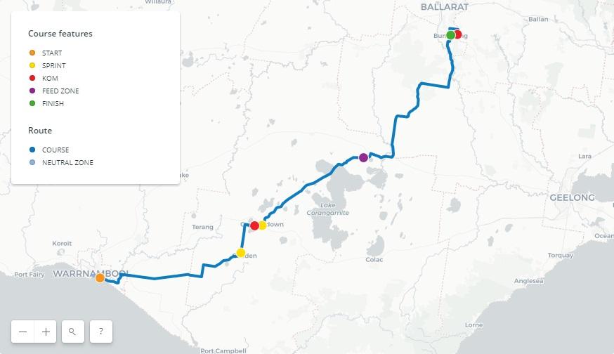 Streckenverlauf Herald Sun Tour 2018 - Etappe 2