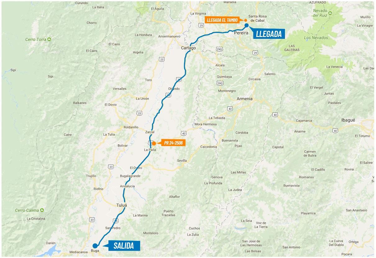 Streckenverlauf Colombia Oro y Paz 2018 - Etappe 4