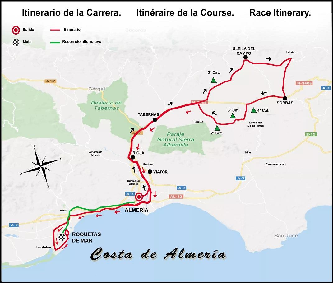 Streckenverlauf Clasica de Almeria 2018