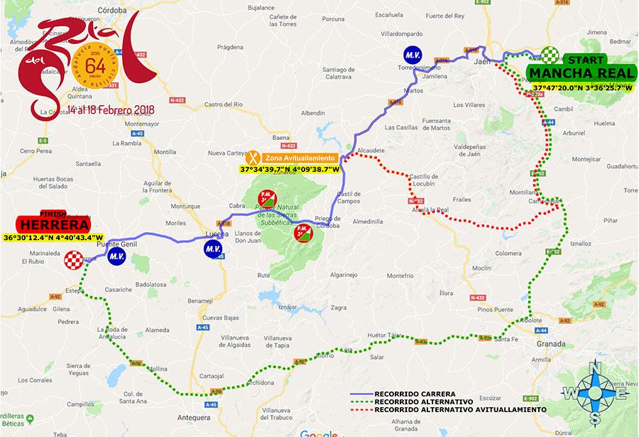 Streckenverlauf Vuelta a Andalucia Ruta Ciclista Del Sol 2018 - Etappe 3