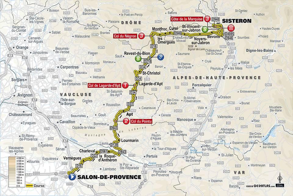 Streckenverlauf Paris - Nice 2018 - Etappe 5