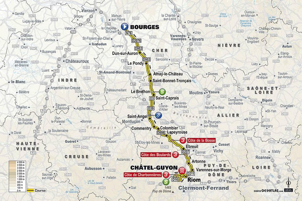 Streckenverlauf Paris - Nice 2018 - Etappe 3