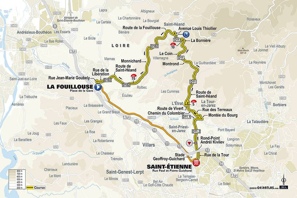 Streckenverlauf Paris - Nice 2018 - Etappe 4