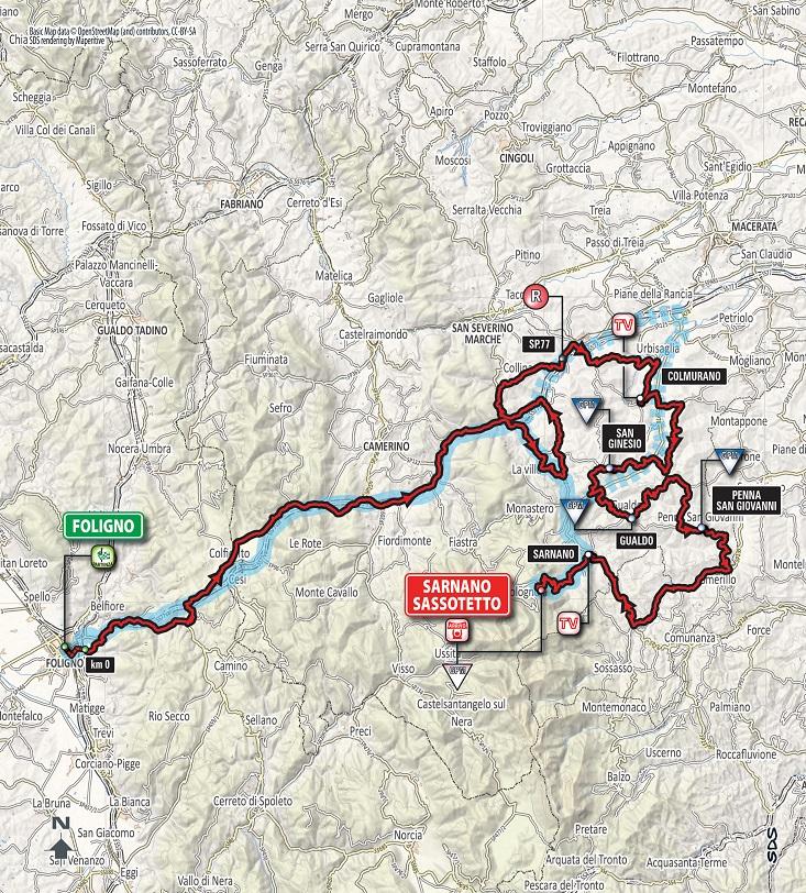 Streckenverlauf Tirreno - Adriatico 2018 - Etappe 4