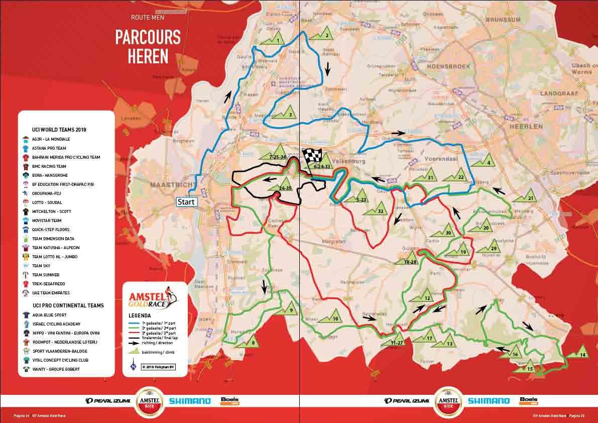 Streckenverlauf Amstel Gold Race 2018