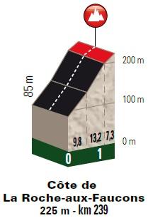 Höhenprofil Liège - Bastogne - Liège 2018, Côte de la Roche-aux-Faucons