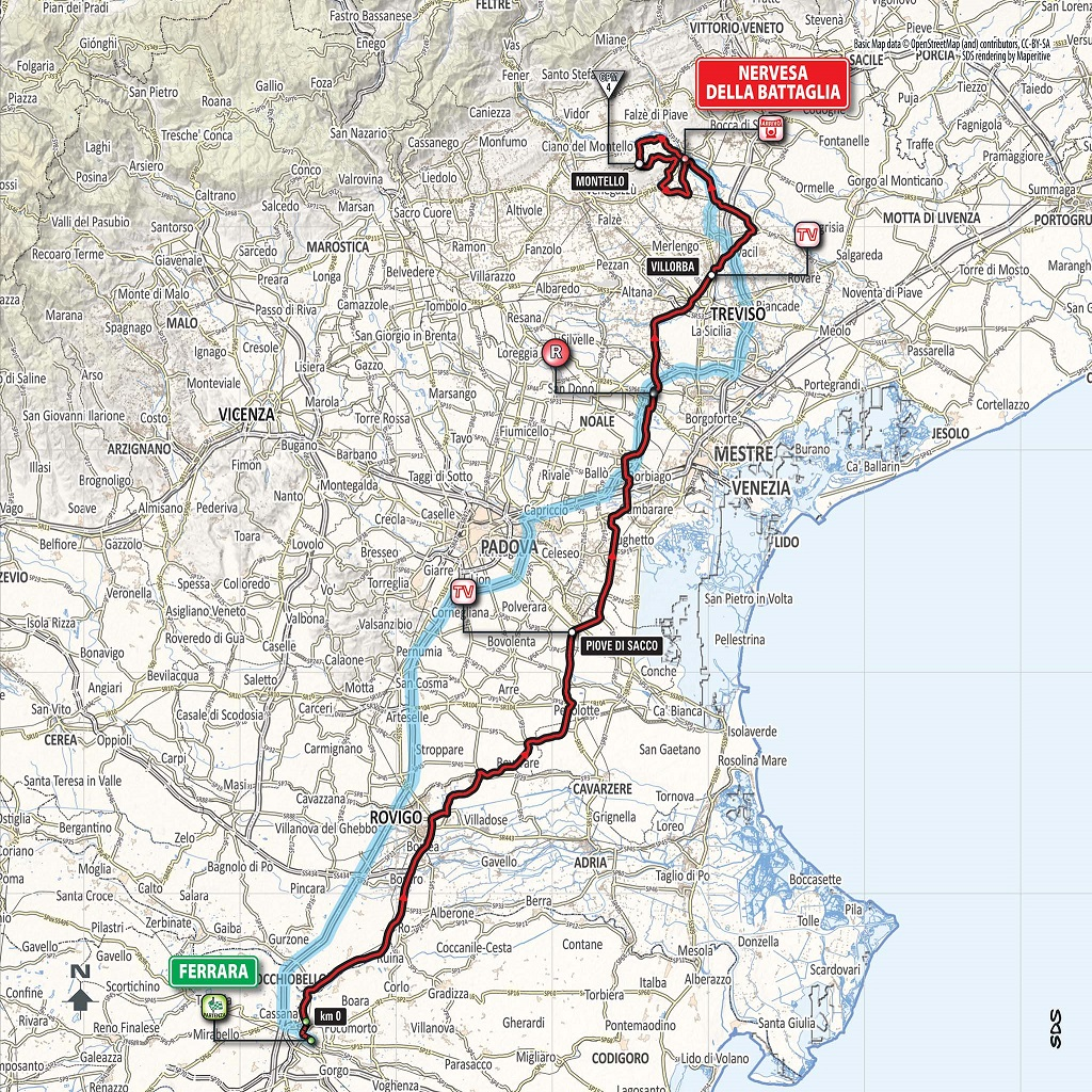 Streckenverlauf Giro d'Italia 2018 - Etappe 13