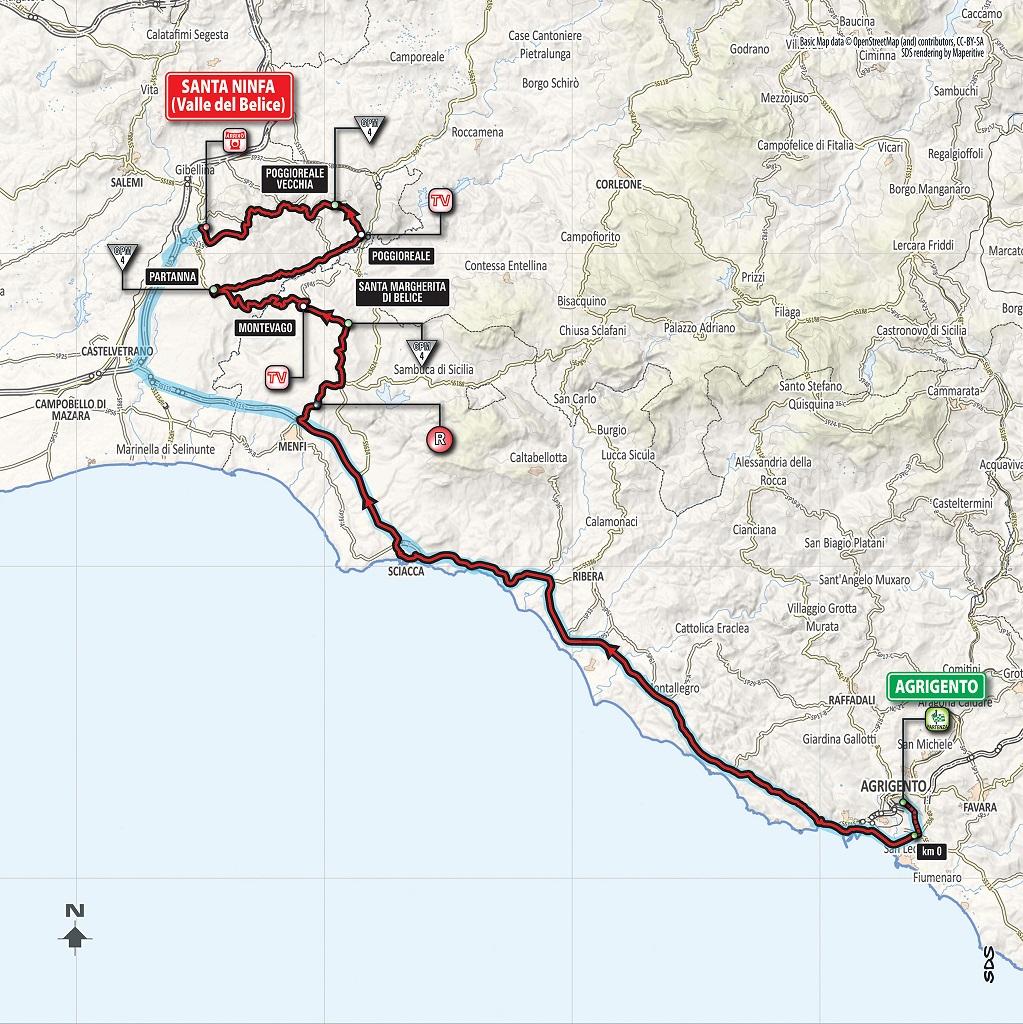Streckenverlauf Giro d'Italia 2018 - Etappe 5