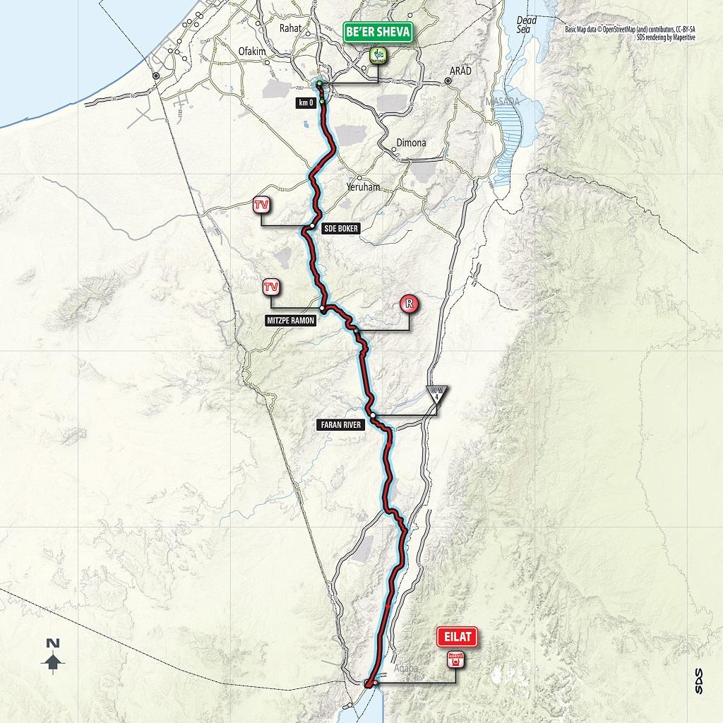 Streckenverlauf Giro d'Italia 2018 - Etappe 3