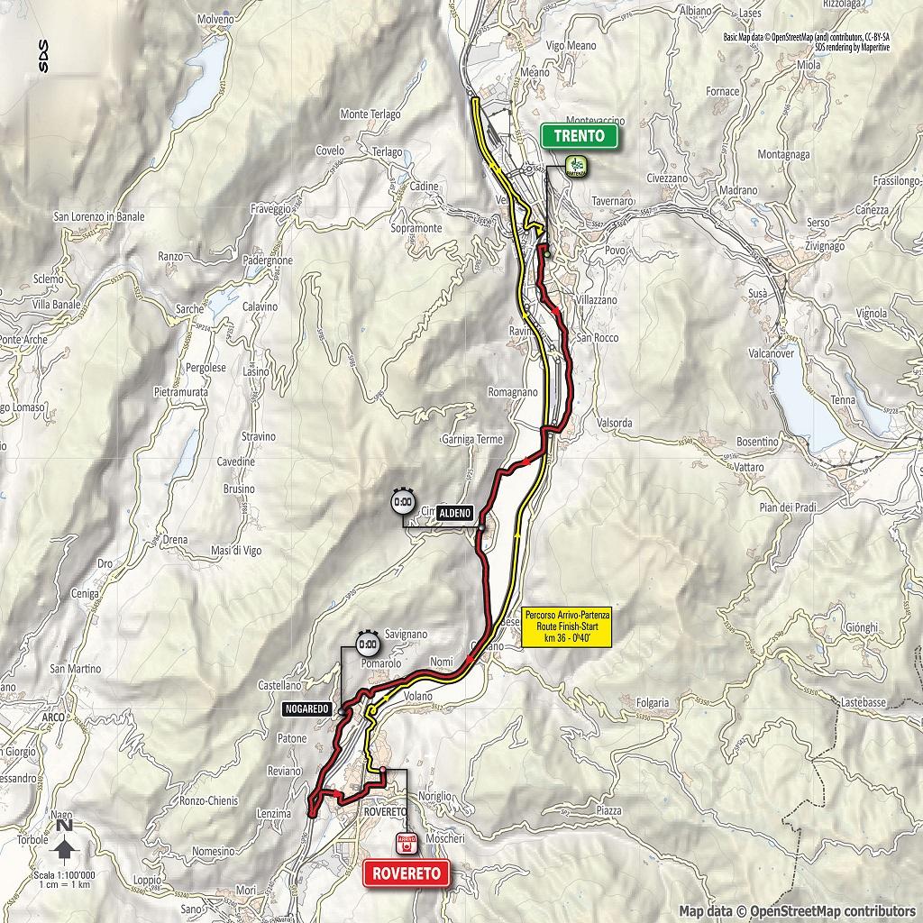 Streckenverlauf Giro d'Italia 2018 - Etappe 16