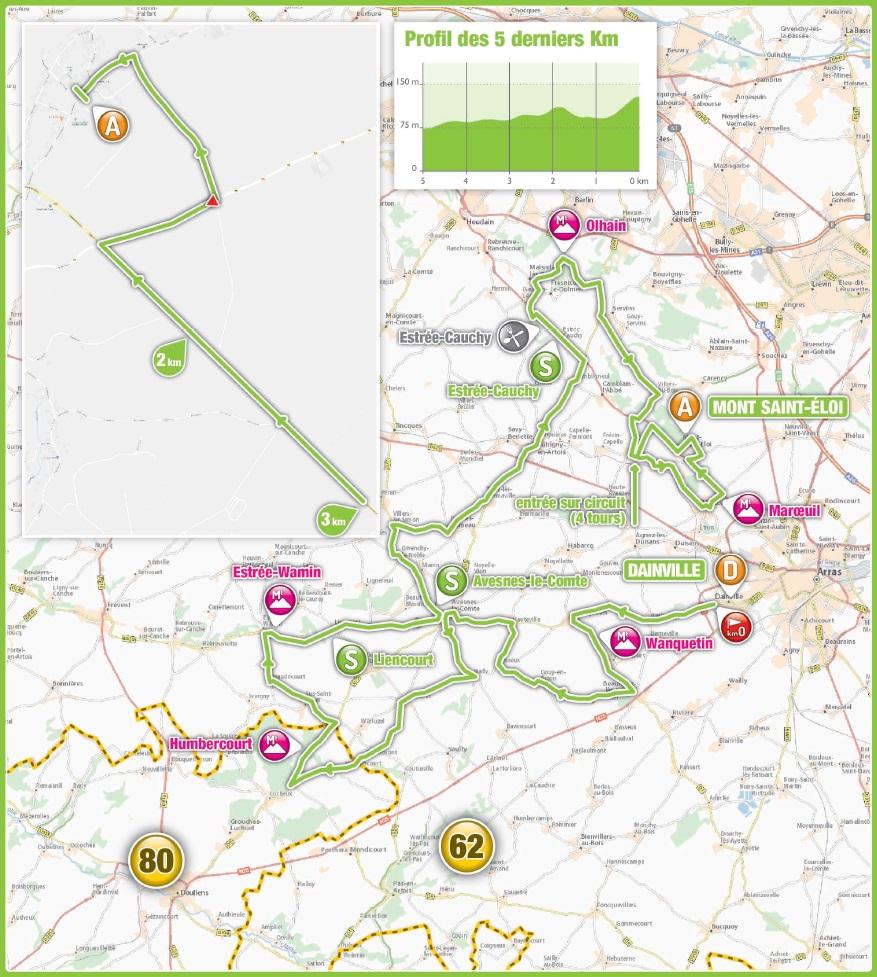 Streckenverlauf 4 Jours de Dunkerque / Grand Prix des Hauts de France 2018 - Etappe 4