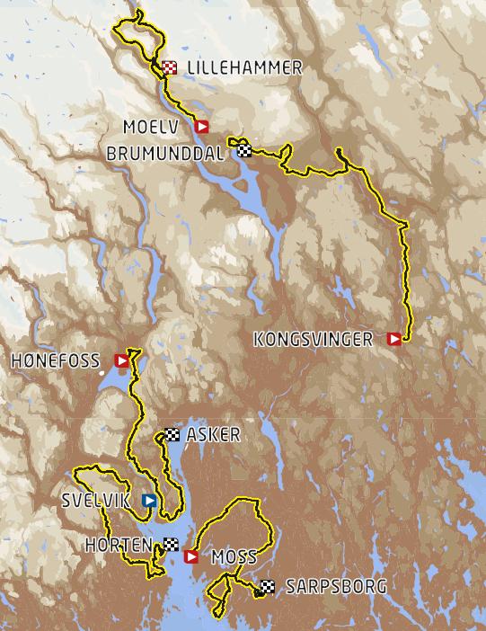 Streckenverlauf Tour of Norway 2018