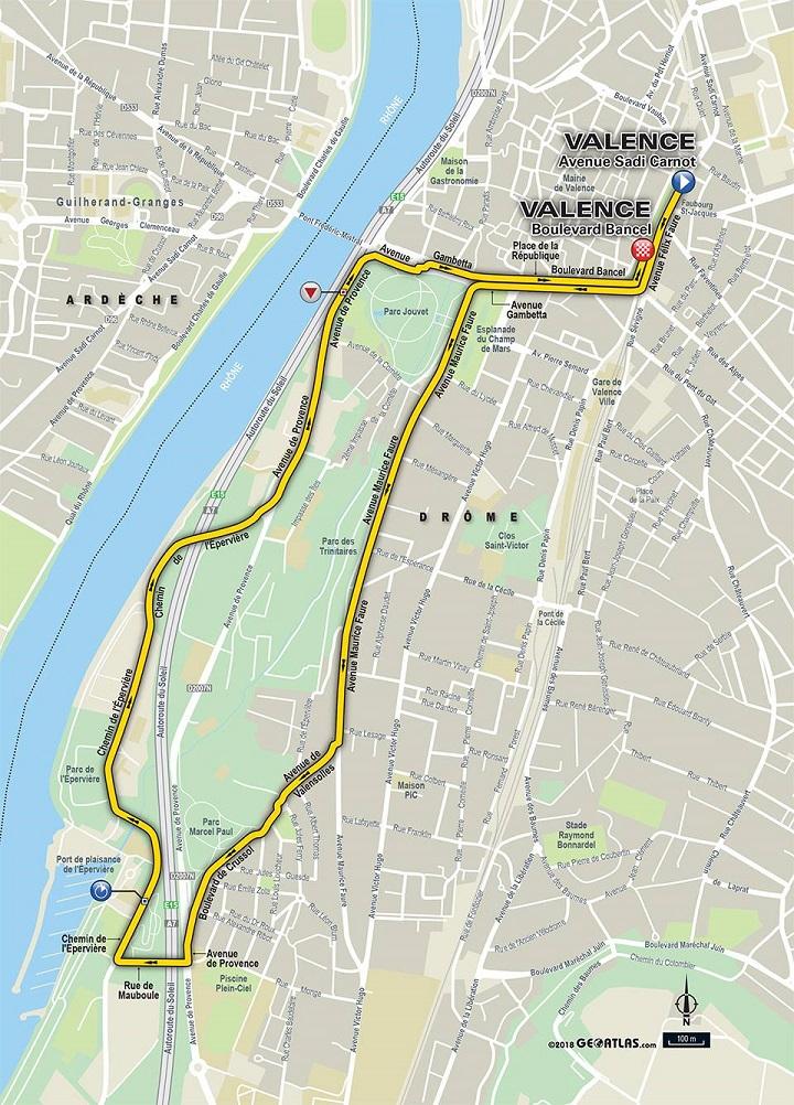 Streckenverlauf Critérium du Dauphiné 2018 - Prolog