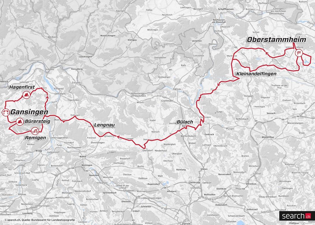 Streckenverlauf Tour de Suisse 2018 - Etappe 3