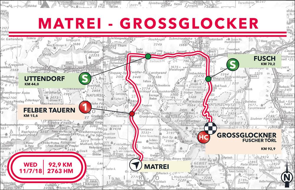 Streckenverlauf Int. Österreich Rundfahrt 2018 - Etappe 5