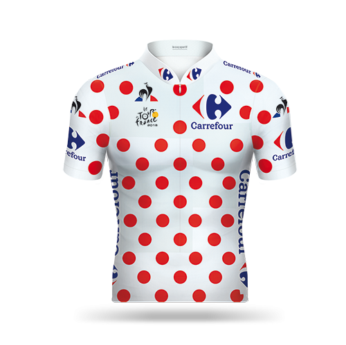 Reglement Tour de France 2018 - Weißes Trikot mit roten Punkten (Bergwertung)