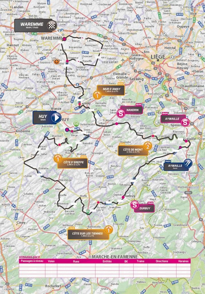 Streckenverlauf VOO-Tour de Wallonie 2018 - Etappe 5