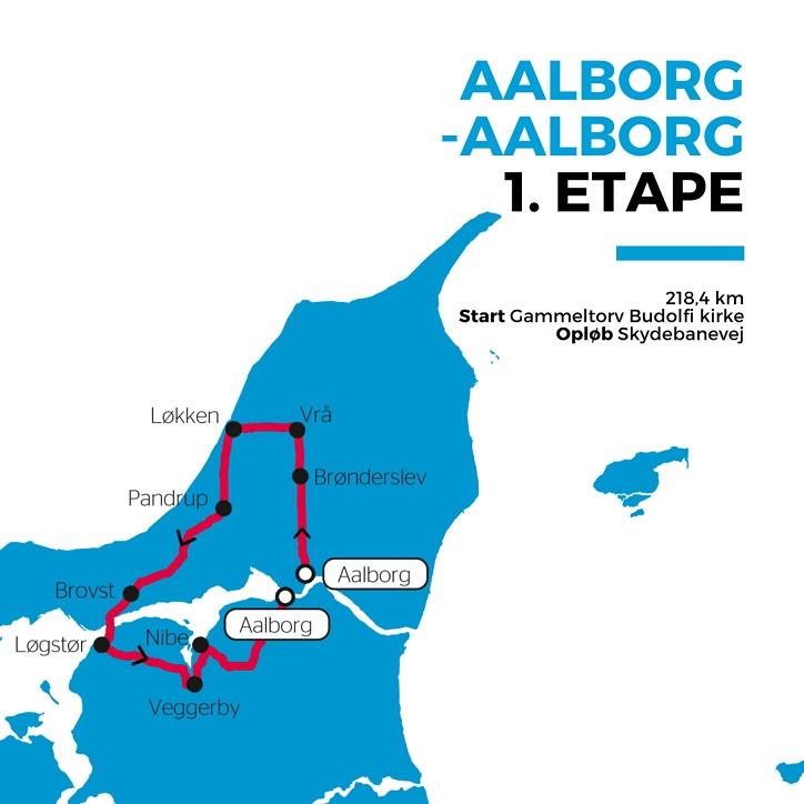 Streckenverlauf PostNord Danmark Rundt 2018 - Etappe 1