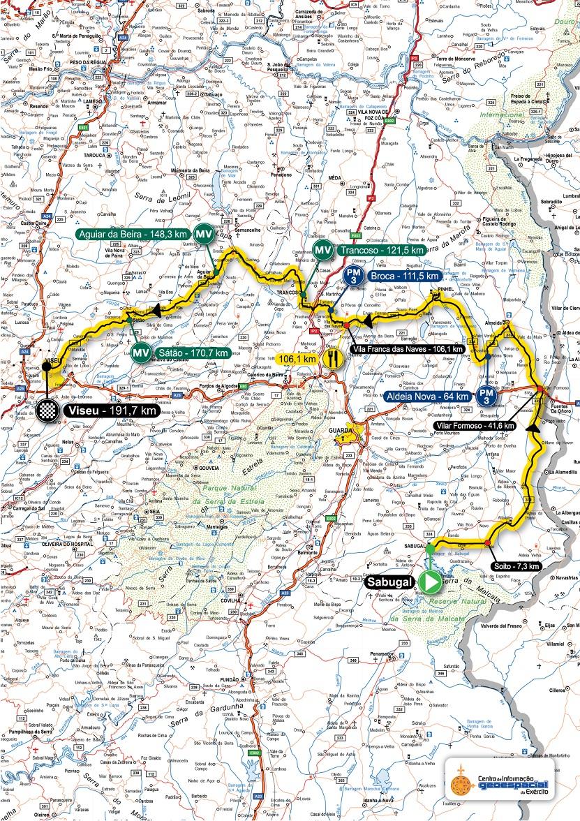 Streckenverlauf Volta a Portugal em Bicicleta Santander 2018 - Etappe 5