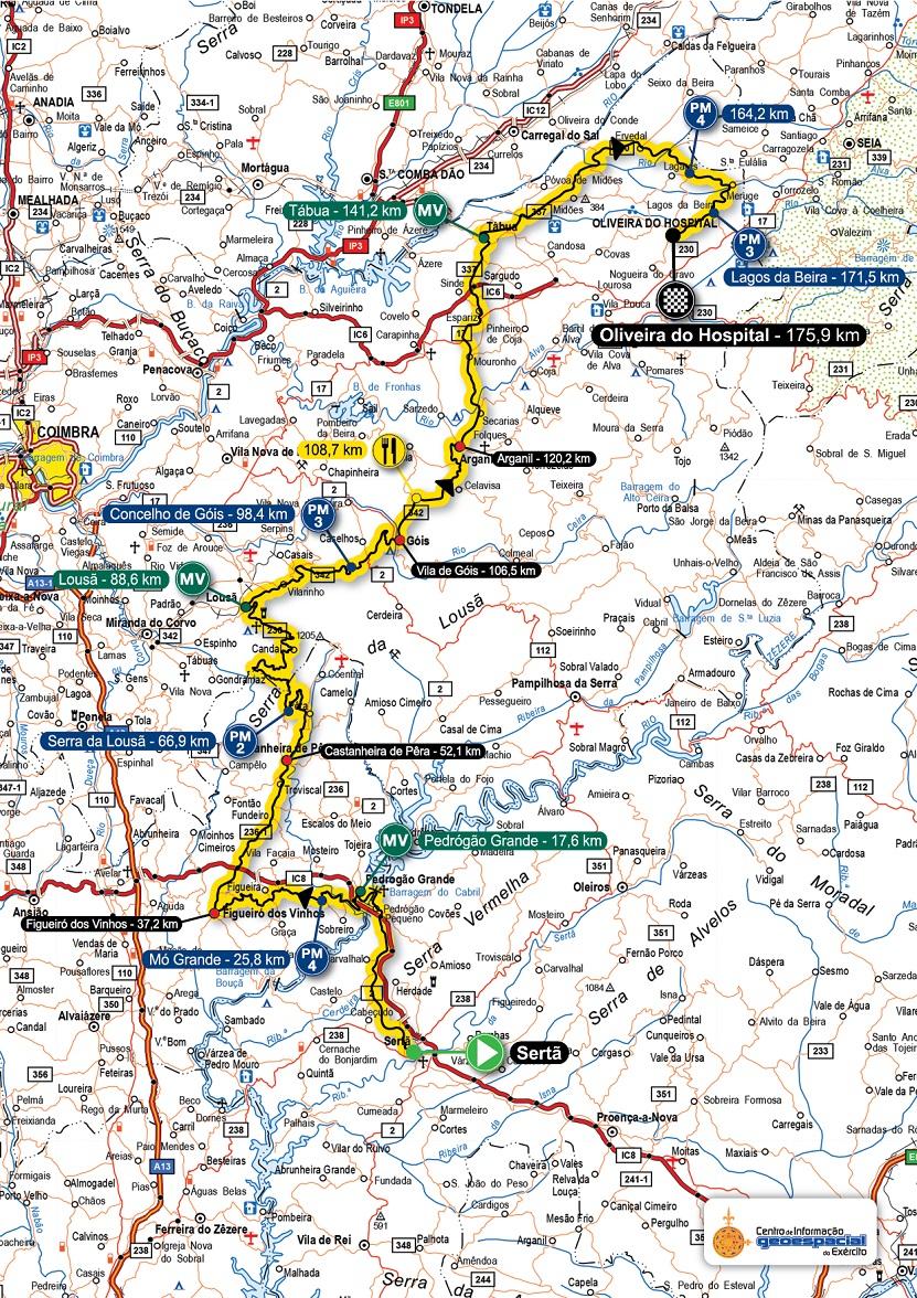 Streckenverlauf Volta a Portugal em Bicicleta Santander 2018 - Etappe 3