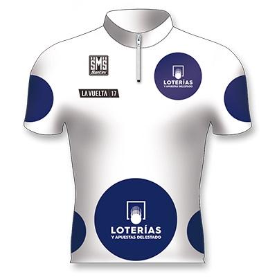Reglement Vuelta a España 2018 - Weißes Trikot mit blauen Punkten (Bergwertung)