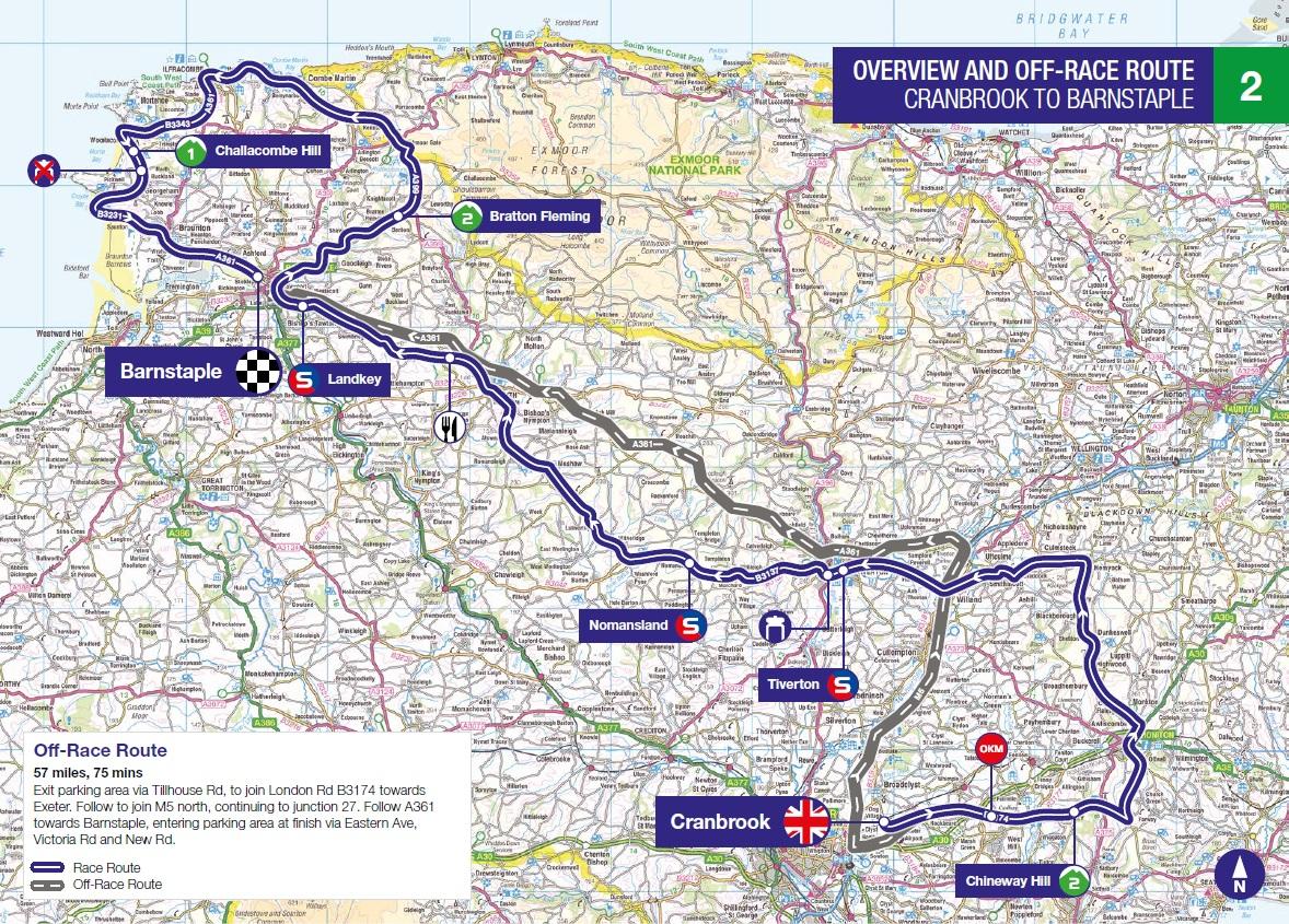 Streckenverlauf OVO Energy Tour of Britain 2018 - Etappe 2