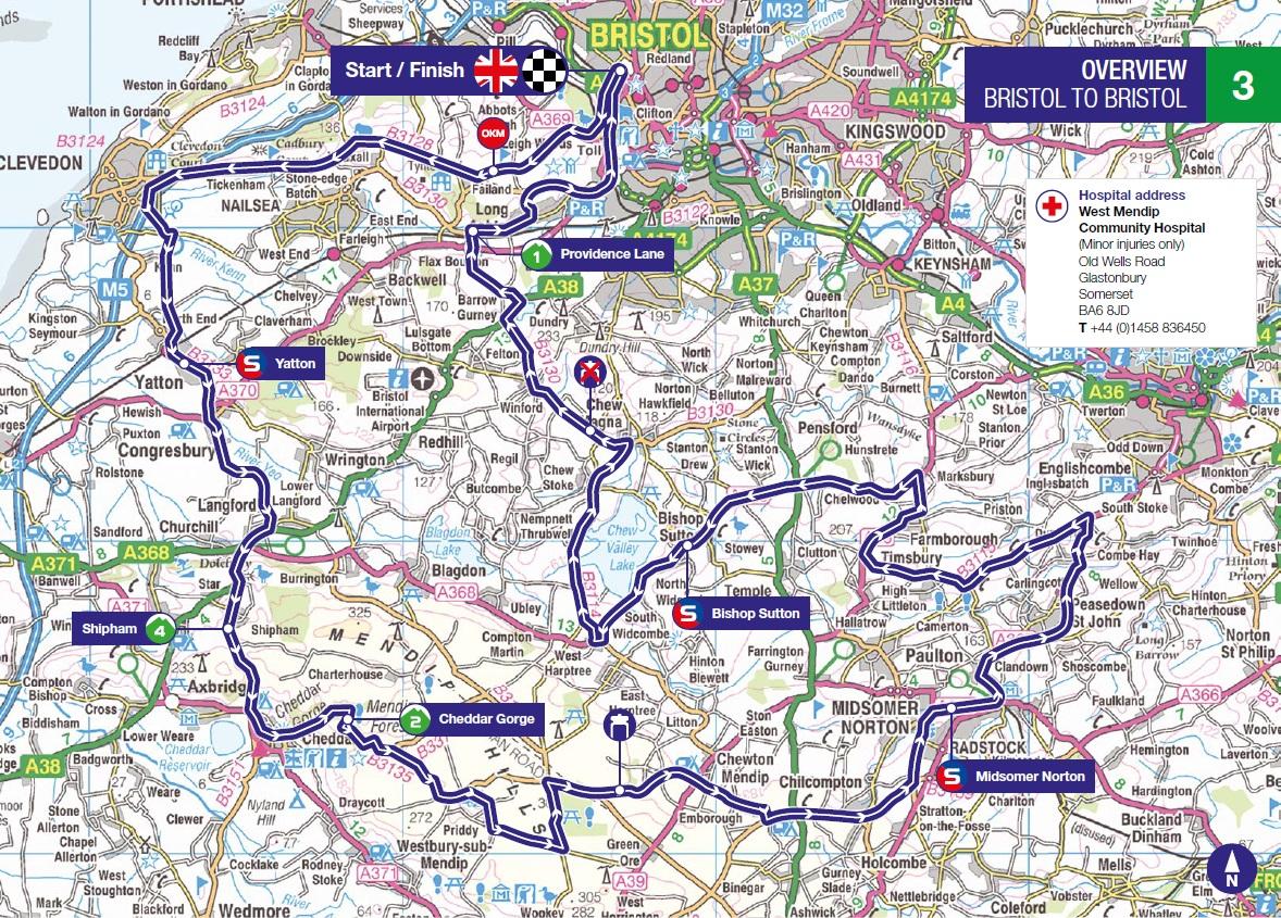 Streckenverlauf OVO Energy Tour of Britain 2018 - Etappe 3
