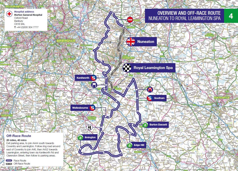Streckenverlauf OVO Energy Tour of Britain 2018 - Etappe 4
