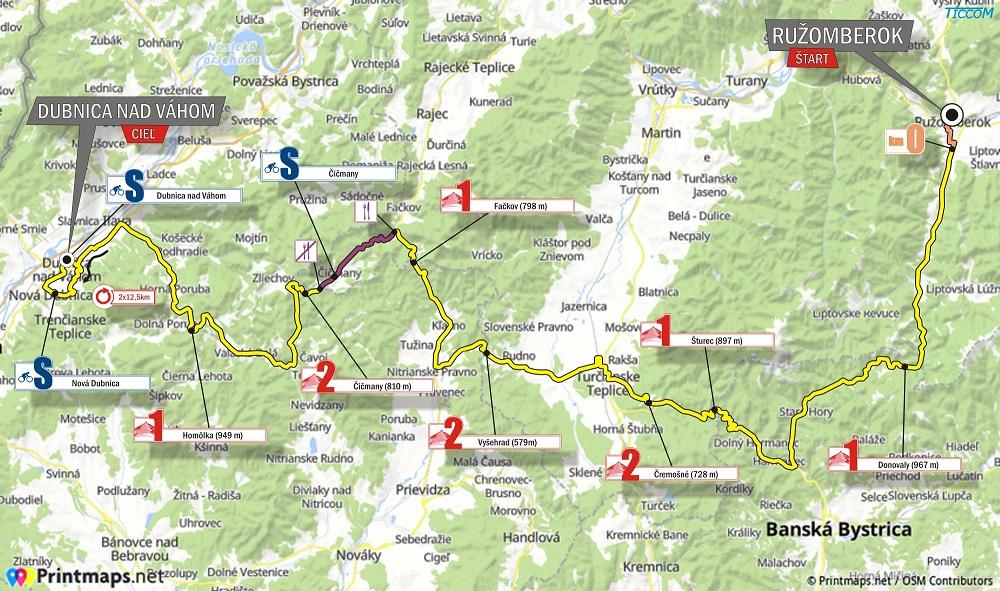 Streckenverlauf Tour de Slovaquie 2018 - Etappe 2