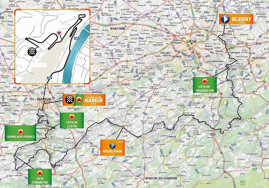 Streckenverlauf Grand Prix de Wallonie 2018