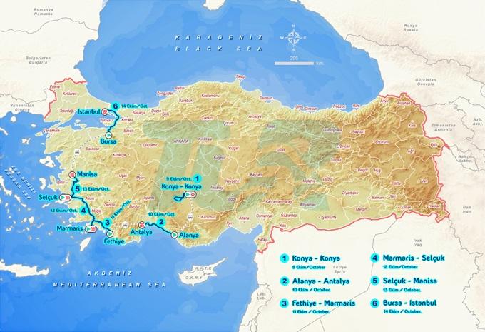 Streckenverlauf Presidential Cycling Tour of Turkey 2018 - Etappe 7