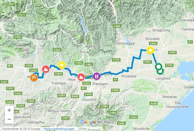 Streckenverlauf Herald Sun Tour 2019 - Etappe 3