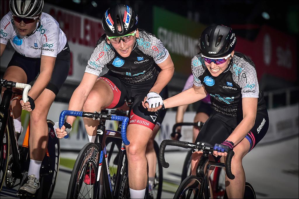 Lisa Brennauer und Lisa Klein gewannen den Madison-Wettbewerb der Frauen (Foto ESN Arne Mill)
