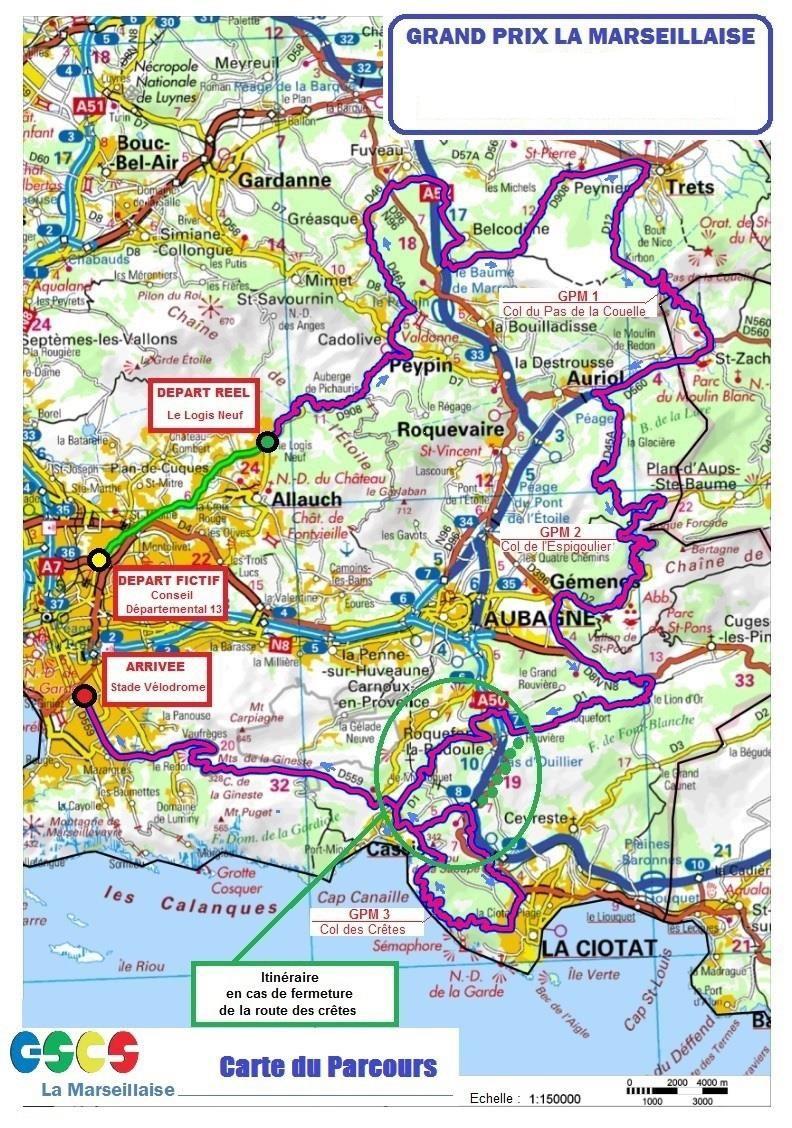 Streckenverlauf Grand Prix Cycliste la Marseillaise 2019
