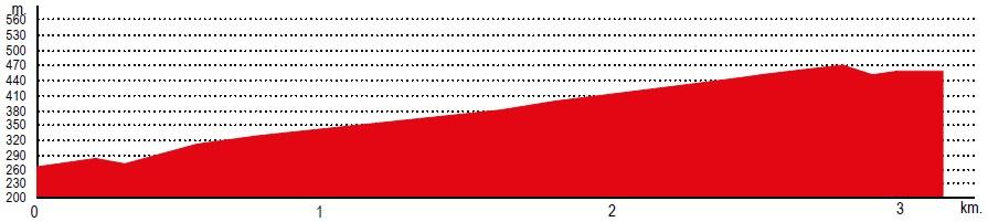 Höhenprofil Trofeo Ses Salines-Campos-Porreres-Felanitx 2019, letzte 3 km