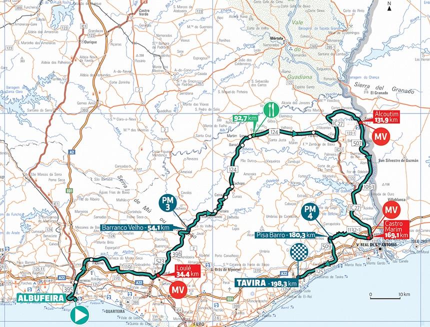 Streckenverlauf Volta ao Algarve em Bicicleta 2019 - Etappe 4