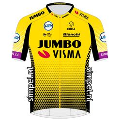 Trikot Team Jumbo - Visma (TJV) 2019 (Quelle: UCI)