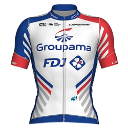 Trikot Groupama - FDJ (GFC) 2019 (Quelle: UCI)