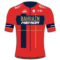 Trikot Bahrain - Merida (TBM) 2019 (Quelle: UCI)